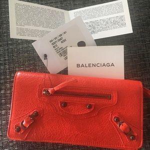 New Rouge Balenciaga wallet